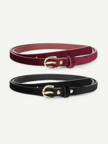 Metal Buckle Belt 2pcs