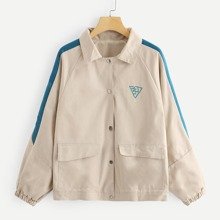 Bishop Sleeve Letter Print Outerwear
