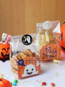 Halloween Clear Cookie Packaging Bag 10pcs