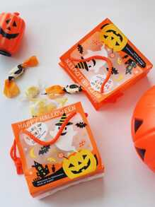 Halloween Pumpkin Lantern Print Gift Bag 5pcs