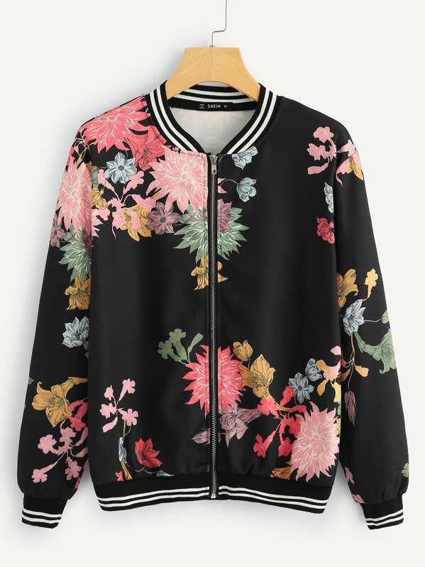 382ef1583e01 Cheap Stripe And Flower Bomber Jacket for sale Australia
