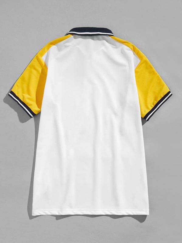 37e6bec173 Men Zip Half Placket Polo Shirt | SHEIN UK