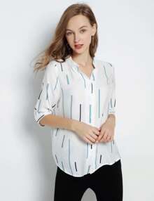 High-Low Stripe Shirt