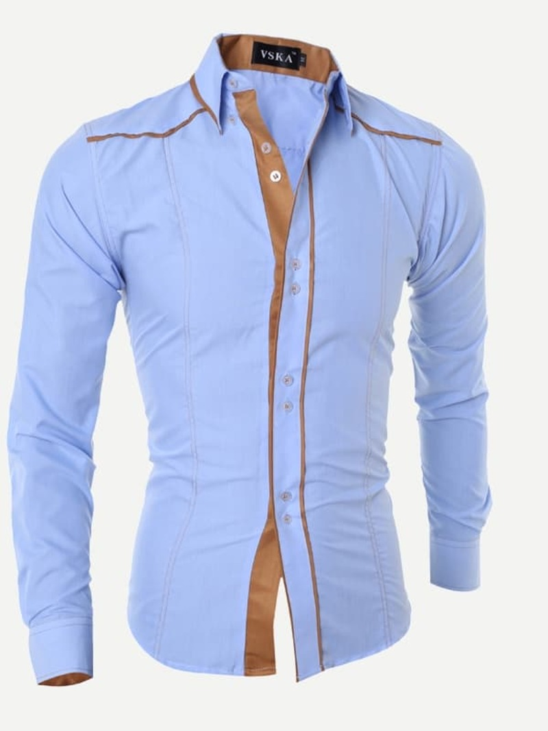 Homme Chemise À Col Rayures Relevé I7yYf6vbgm