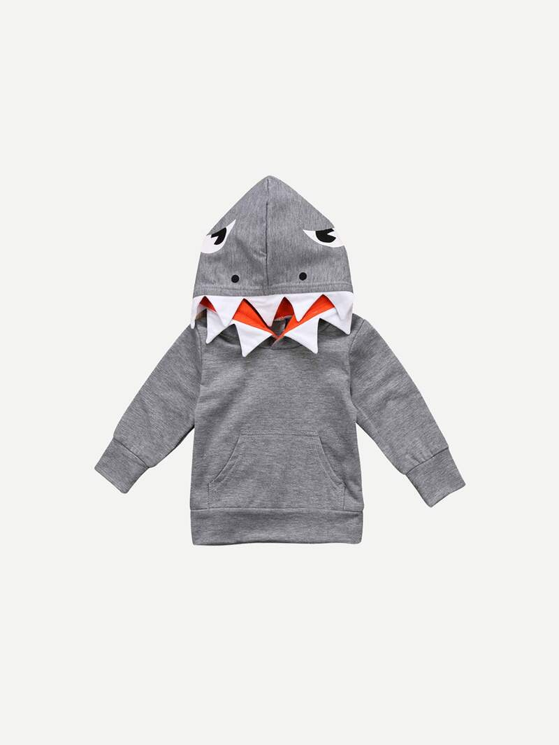 varios colores 6ddd8 04af4 Sudadera con capucha de tiburón