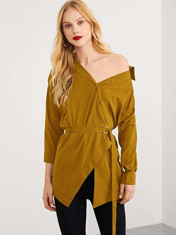 7ff2144678a Асимметричная простая блуза