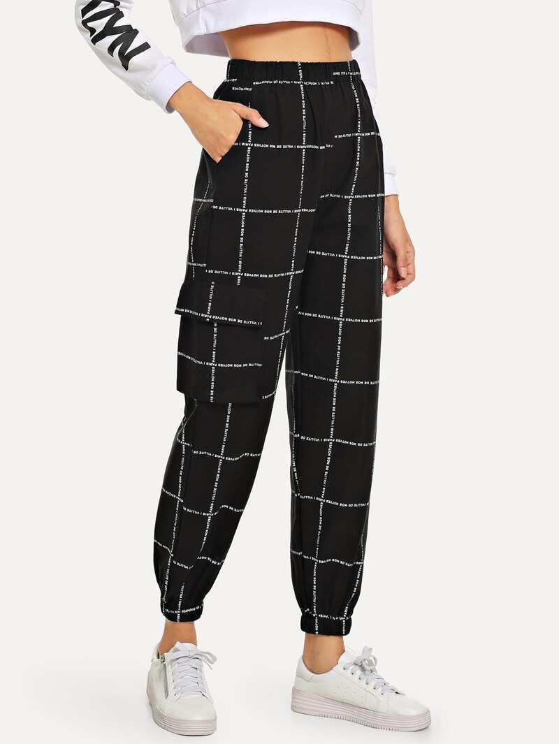 Pantalones Jogger con cuadros
