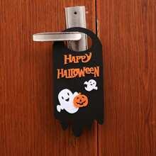 Halloween Slogan & Ghost Door Hanger 1pc