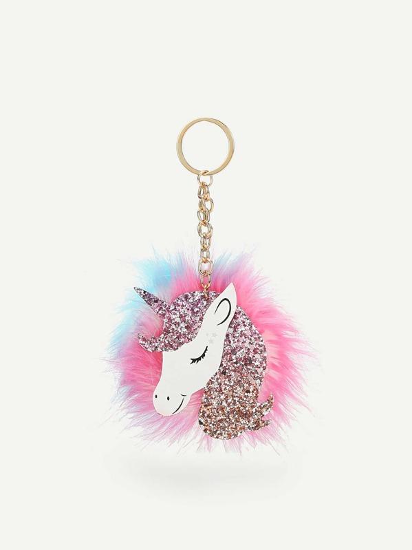 c4aa1d24a1 Unicorn Shaped Pom Pom Bag Accessory | SHEIN IN