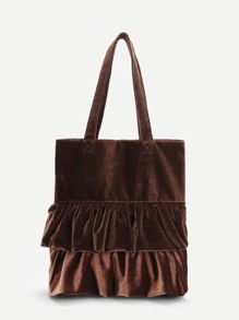Frill Decoration Tote Bag