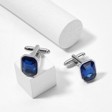 Men Gemstone Square Cufflinks 1pair