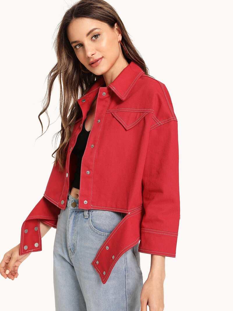 hot product special section huge sale Veste en jean à ceinture