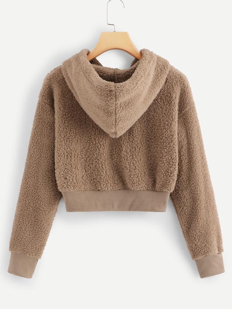 mejor mayorista chic clásico encontrar el precio más bajo Cazadora Teddy con capucha sólida con lana