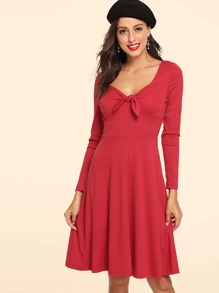 Sweetheart Neck Fit & Flare Dress