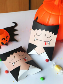 Halloween Cartoon Print Pillow Box 10pcs