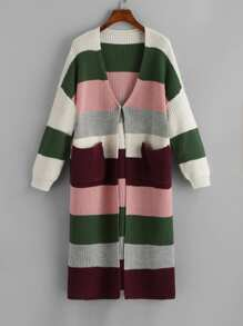 Pocket Front Color Block Jumper