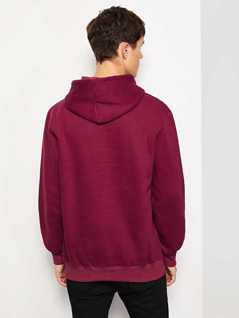 Unicolore Shirt À Homme Capuche Sweat k0wP8nO