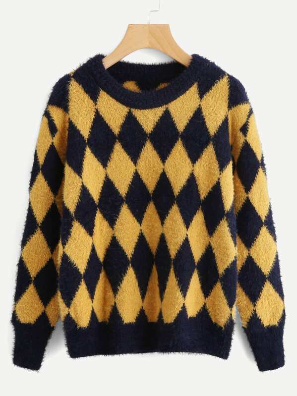 fbb6ddbce90ec Argyle Pattern Sweater
