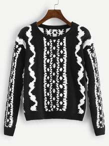 Graphic Pattern Jumper