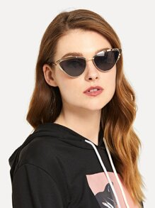 Metal Frame Cat Eye Sunglasses
