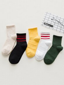 Striped Socks 5pairs