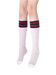 Striped Hem Socks