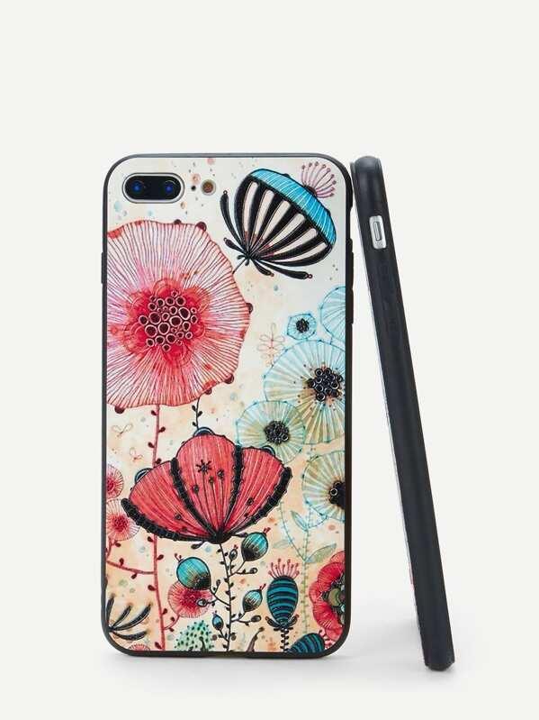 d95f0df9e8 Flower Print iPhone Case | SHEIN