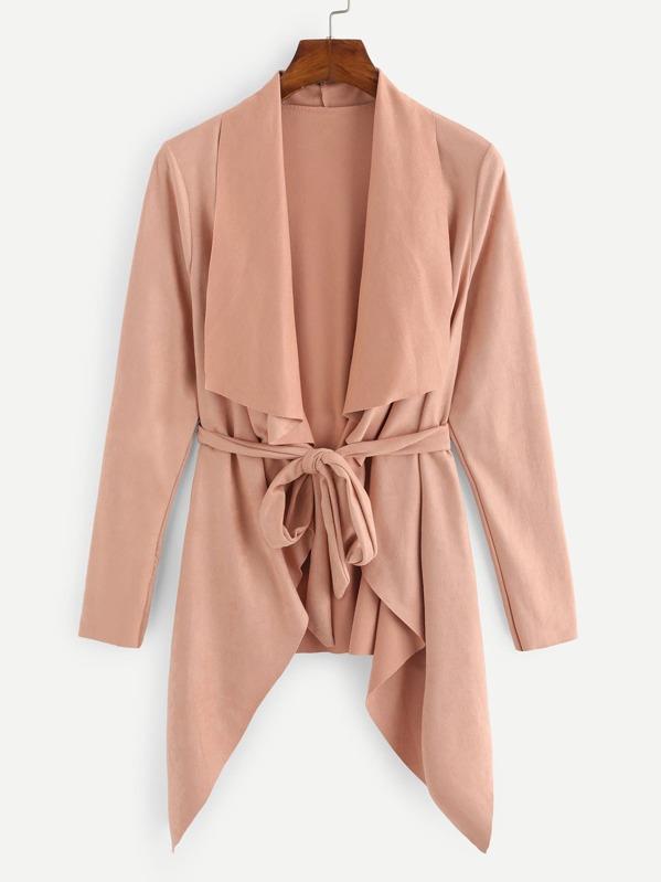 cf218f89ea Cheap Waterfall Collar Solid Coat for sale Australia | SHEIN