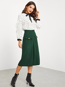 Pocket Solid Skirt