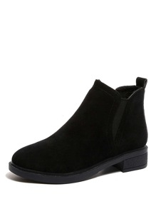 Slip On Suede Ankle Boots