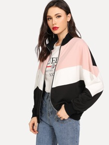 Drop Shoulder Cut and Sew Jacket