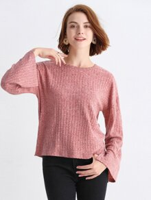 Bell Sleeve Drop Shoulder Top
