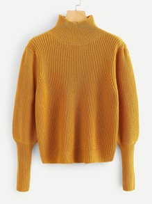 Plus Gigot Sleeve Solid Jumper