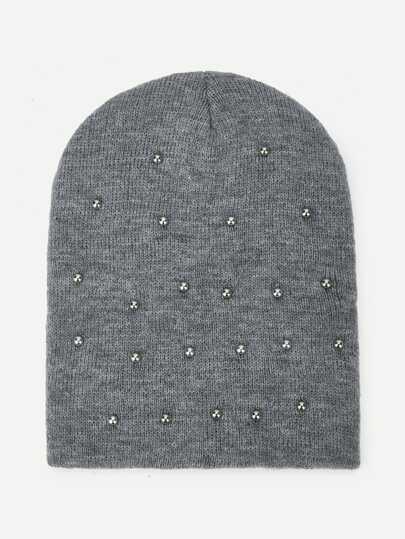 a5f5ff2d5a8b3 Metal Decorated Beanie Hat