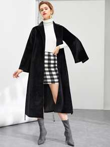 Notch Neck Longline Coat