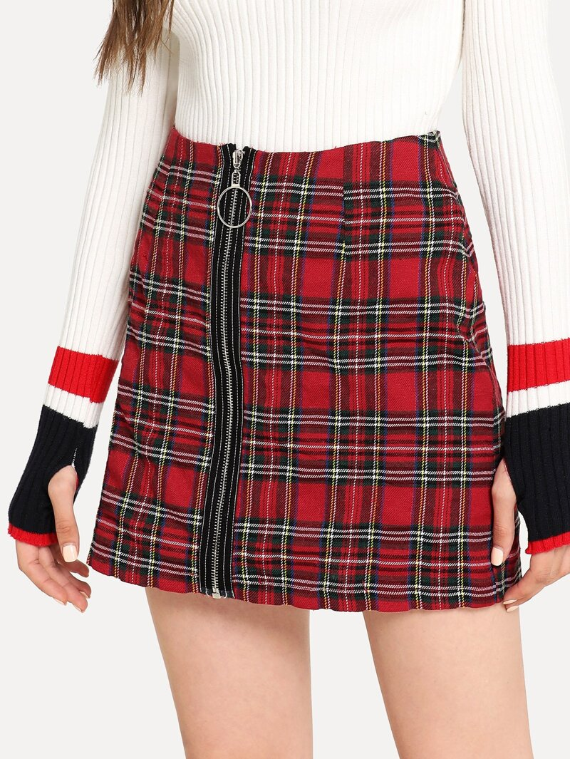 d14531154 Minifalda de cuadros escoceses