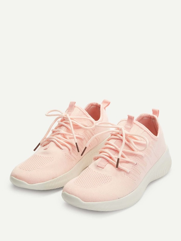 b2bcf7313 الحذاء محيك تصميم الرباط حذاء رياضي   شي إن