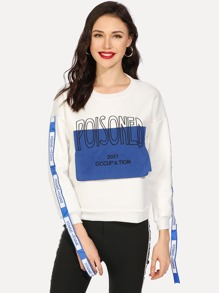 Embroidered Letter Sweatshirt