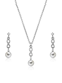 Infinity Detail Pendant Necklace & Earrings
