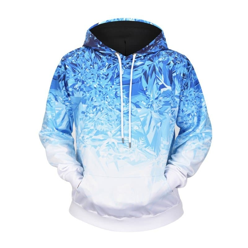SHEIN coupon: Men Abstract Print Ombre Hoodie