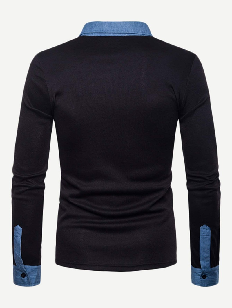 01a5449742 Guys Contrast Trim Polo Shirt