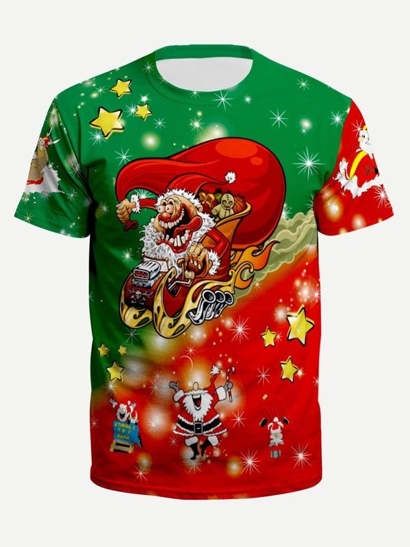 02263564c9 Cheap Men Christmas Santa Claus Print Tee for sale Australia | SHEIN