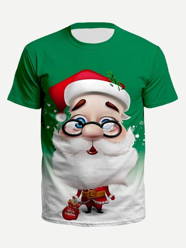 Imprimé Père Homme Tee Shirt Noël b7Yf6gy