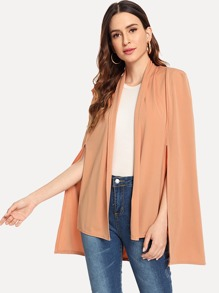 Split Sleeve Solid Cape