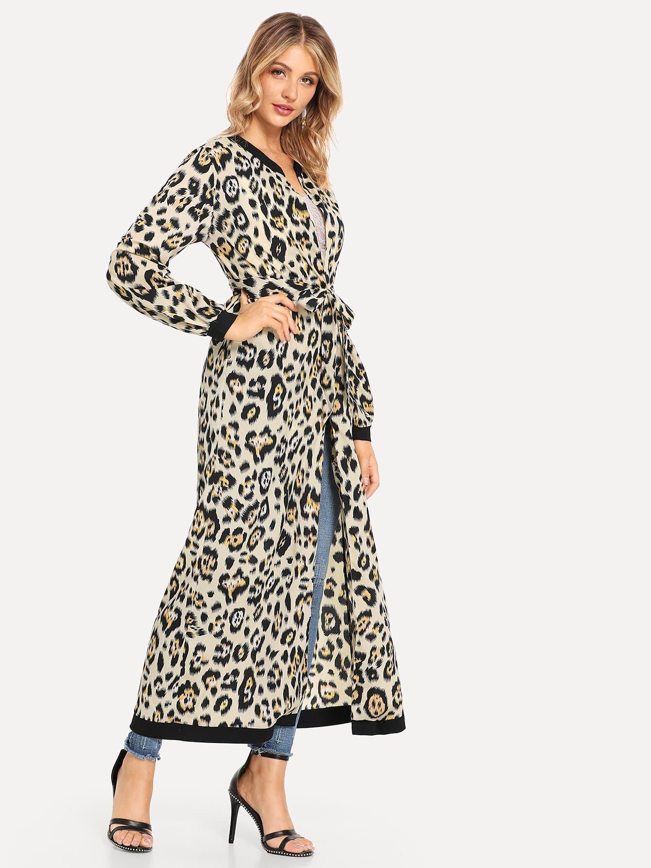 Leopard Open Front Outerwear Leopard Open Front Outerwear
