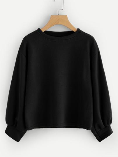 fd353c85ecd Blouson Sleeve Solid Sweatshirt