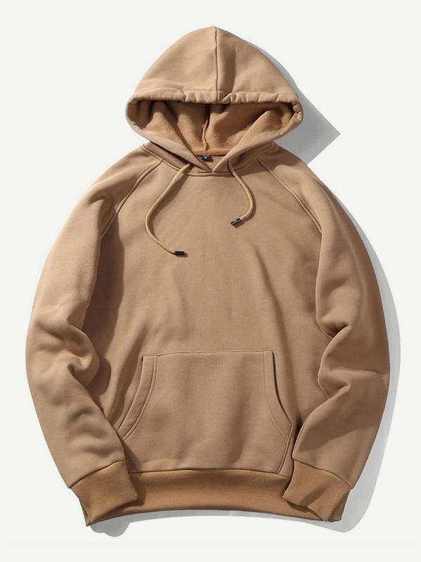 6539558e85 Men Solid Hooded Sweatshirt | SHEIN
