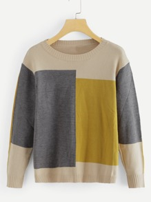Plus Color Block Jumper