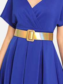 Rectangle Buckle Plain Belt
