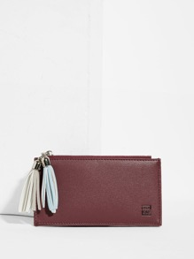Double Tassel Detail PU Purse